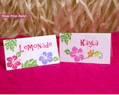 Luau Tent Cards Printable...