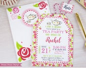 Tea Party Baby Shower Inv...