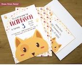 Kitty Cat Invitation, Cat...