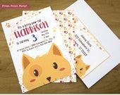 Kitty Cat Invitation, Cat Party invitation, Kitty Cat Birthday, Pets Invitation, Pets Invite, Kitten Invite, Kitten Party Printable