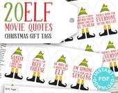 20 Elf Movie Quotes Funny Christmas Gift Tags Printable, White Elephant Gift Tags, Unique Gift Tags, Sarcastic, Gift Label, INSTANT DOWNLOAD