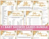 Little Pumpkin Baby Shower Games Bundle Printable, Fall Pumpkin, Games Pack, Unique Baby Shower Games, Funny Activities, INSTANT DOWNLOAD