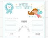 Baby Teeth Chart with the Tooth Fairy Printable, Lost Tooth Tracker, Editable and Customizable, Tooth Fairy for boys, INSTANT DOWNLOAD