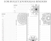 2020 Daily Routine Printables, Habit Tracker, Mandala Coloring, Bullet Journal Printable, Binder, Task Monthly Planner, INSTANT DOWNLOAD