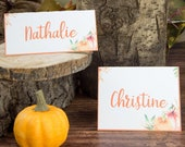 Little Pumpkin Place Cards Printable, Thanksgiving Placecard, Table Setting , Fall Table Setting Ideas, Baby Shower, INSTANT DOWNLOAD