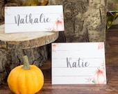 Thanksgiving Place Cards Printable, Rustic Pumpkin Printable Placecard, Farmhouse Decor, Fall Table Setting Ideas, INSTANT DOWNLOAD