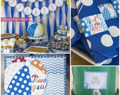 Pool Party Decorations, Pool Party Birthday Decor, Swimming Pool Birthday, Pool Party Invitation for Kids, Swimming Party, Beach Ball Party