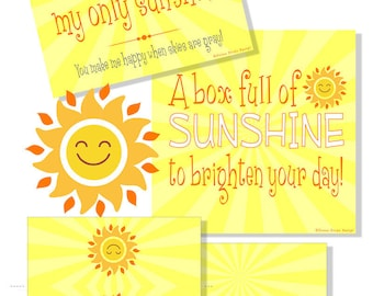 graphic about Box of Sunshine Printable identify Sunlight Box Printables Sunlight Present Box Cheer Up Treatment Etsy