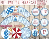 Pool Party cupcake set - ...