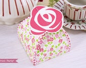Rose Favor Box Printable,...