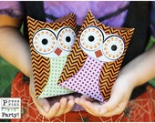 Owl Favor Pillow box - Halloween printable - DIY Party Supplies and Decorations - INSTANT DOWNLOAD pdf