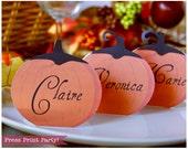 Pumpkin Place Cards Print...