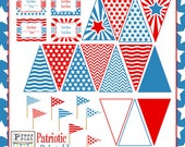 Patriotic Party Printables - Red, White and Blue - Party Supplies and decorations