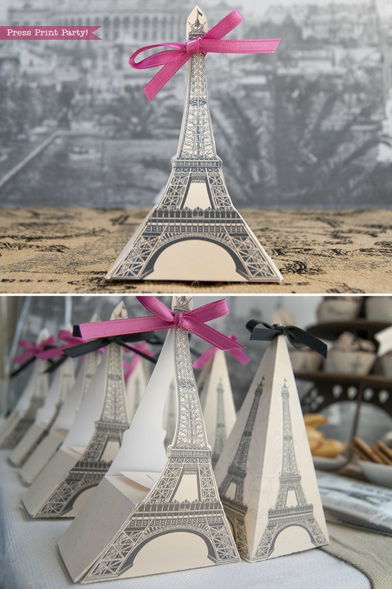 picture regarding Printable Eiffel Tower named Eiffel Tower Present Box Printable, Paris Get together, Printable Box