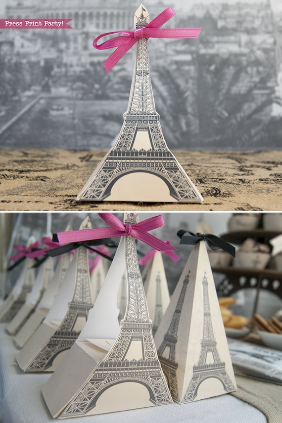 picture regarding Printable Eiffel Tower named Eiffel Tower Present Box Printable, Paris Get together, Printable Box