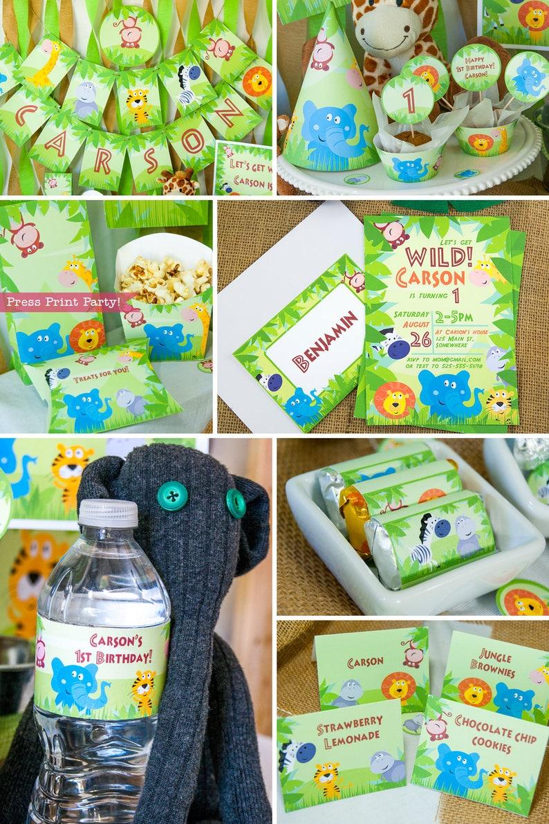 Jungle Party Decorations Birthday Printables Safari