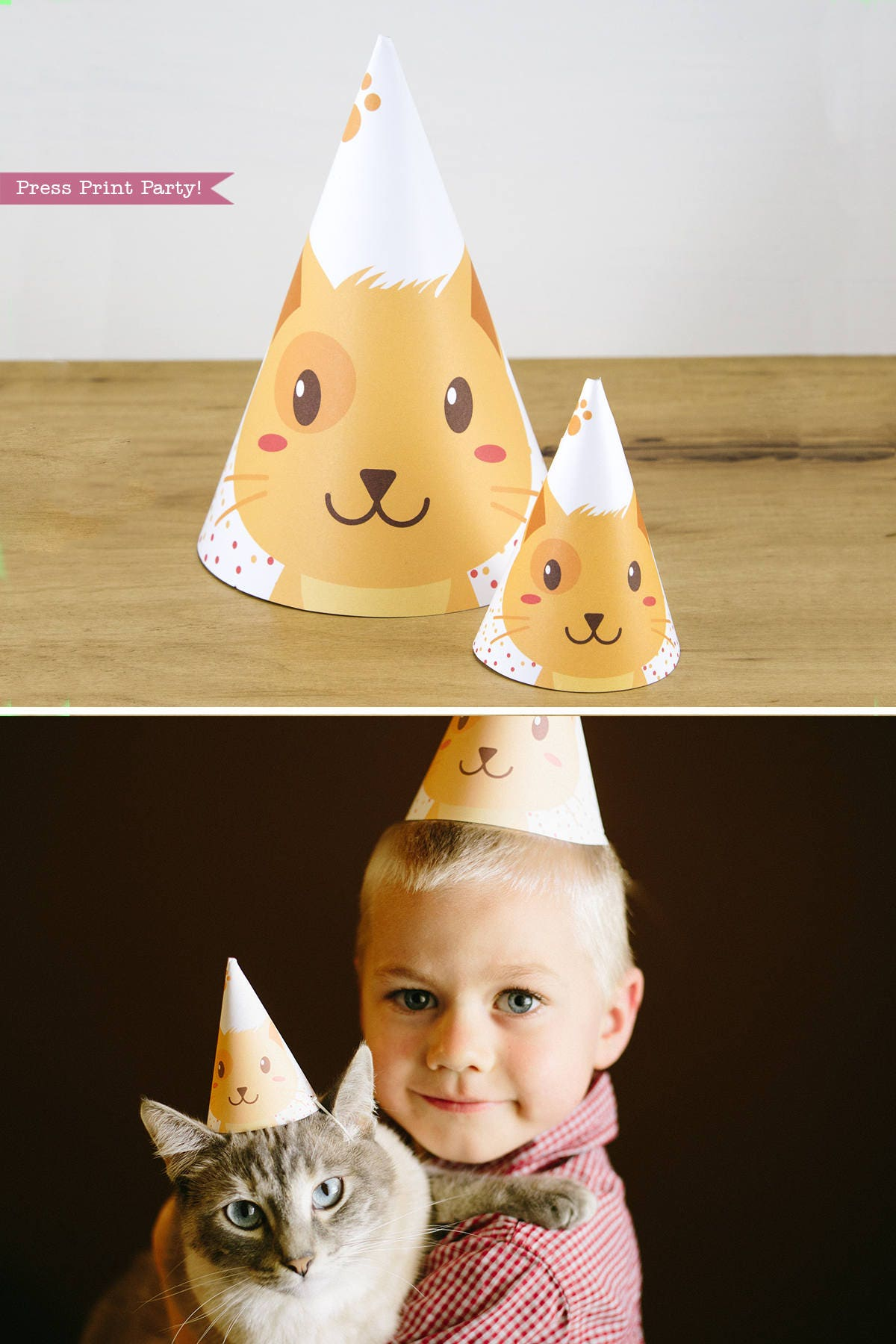 Cat Hat Printable Party Kitten