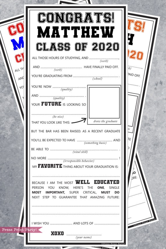 This is a picture of Free Printable Graduation Party Games within classroom