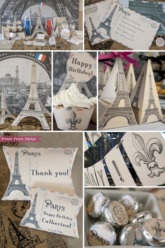 Paris Theme Party Printables Eiffel Tower Paris Invitation