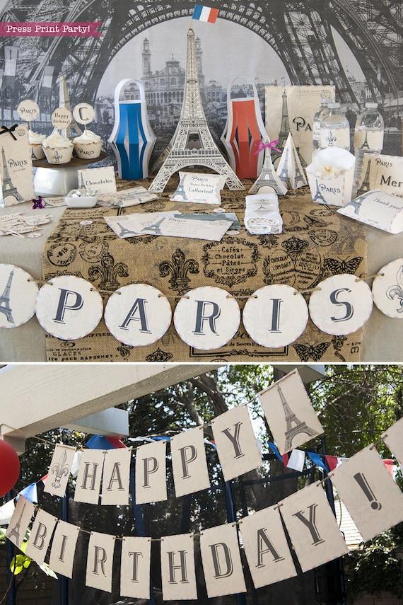 Paris Party Printables Paris Party Decorations French Wedding