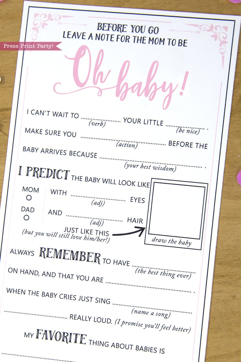picture regarding Baby Shower Mad Libs Printable titled Humorous Child Shower Recreation, Mother Suggestions Card, Child Shower Outrageous Libs, For Lady, Tender Red, Suggestions for Fresh new Mom and dad, Oh Youngster, Immediate Obtain