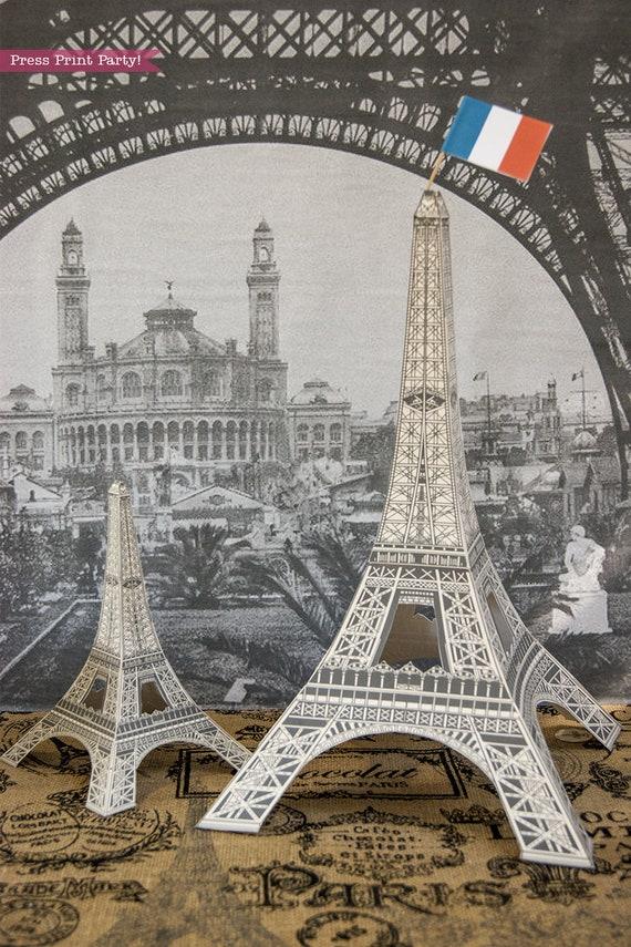Eiffel Tower Centerpiece Printable Paris Centerpiece Wedding Etsy