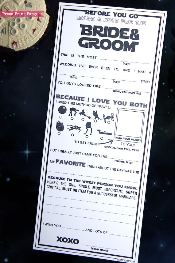 graphic about Wedding Mad Libs Printable identified as Star Wars Wedding ceremony Crazy Libs Printables, Connection Assistance Playing cards