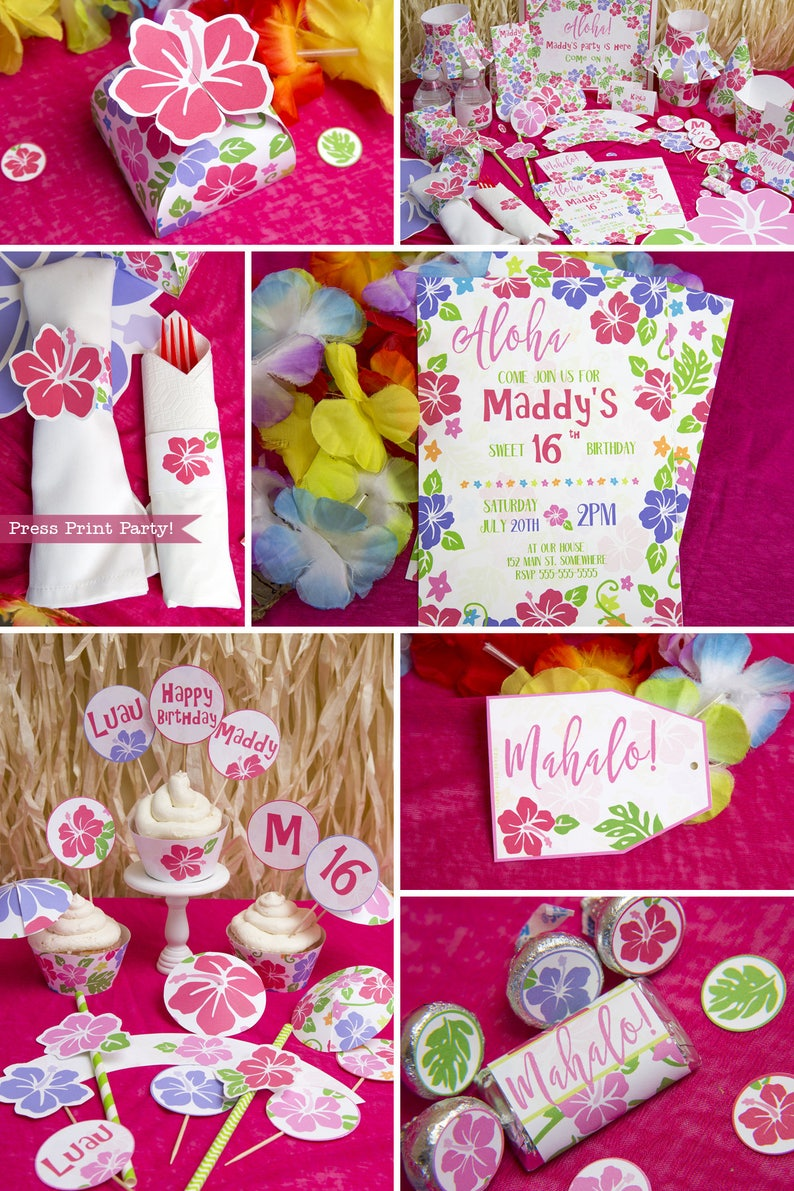 Hawaiian Theme Party Luau Decorations Moana Birthday