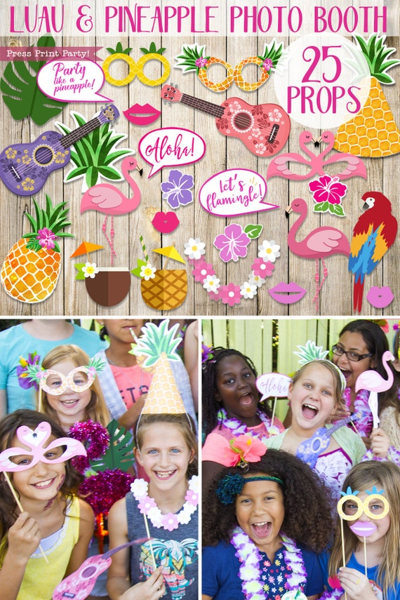 Luau Party Decorations Printable Props Luau Photo Booth Props