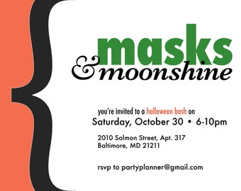 Halloween Party Invite - Custom Digital File