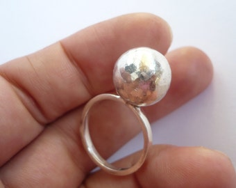 ball sterling silver ring