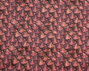 Red Dragon Scales 3D PUL fabric BY the YARD polyurethane laminate cloth diaper making supplies