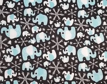 Winter Elephants PUL fabric HALF YARD polyurethane laminate cloth diaper making supplies