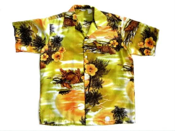 Hawaiian Aloha Shirt  Beach Sunset Liberty House M