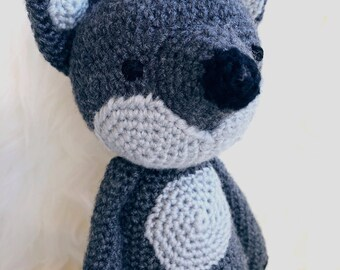 Wolf // crocheted stuffed animal by MAEVAknits