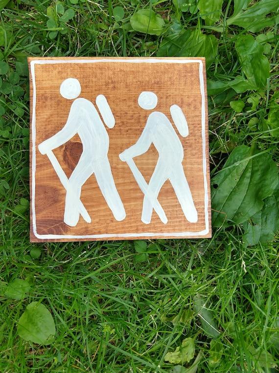 Hiking Sign Camping Sign Camper Gifts National Park Symbol Etsy