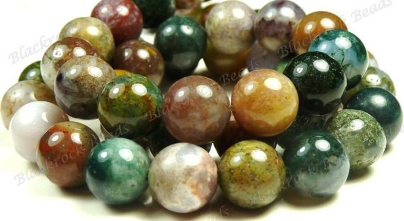 BC25 15 Inch Strand Multicolor Mix 6mm Fancy Jasper Smooth Round Natural Gemstone Beads