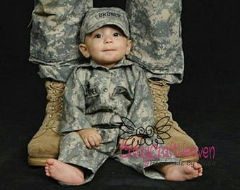d128c570 Baby Military uniform, nb-12m, military uniform, Baby Military set, Baby  military jacket, BAby military costume, military baby