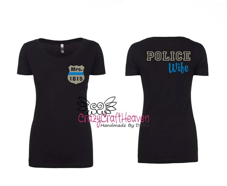 a42af8d4 Police Wife Shirt Police Spouse Shirt Girlfriend Fiance   Etsy