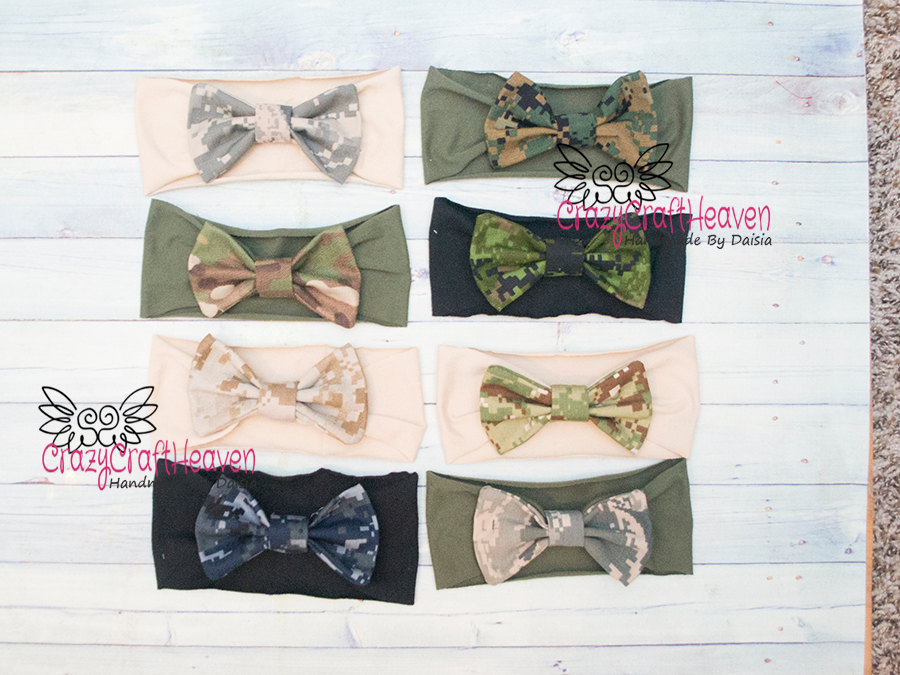 Military Bow, Army Acu USAF, usmc, navy, Baby military headband, Camo bow,  Military hair bow, Acu, Multicam, deployment, milso
