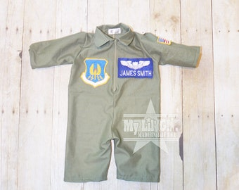 Air Force Flight Suit,  Baby Flight suit (Newborn-12m), Baby airman, Baby Pilot suit, Baby Pilot uniform,  baby uniform