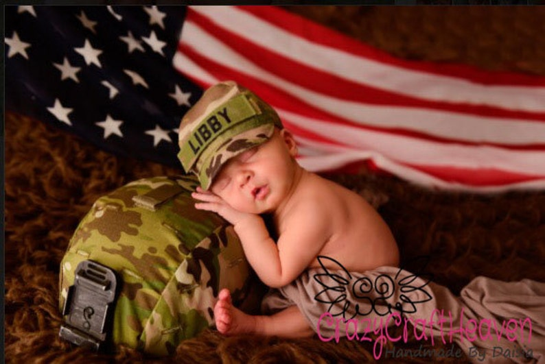 4f0863165 Personalized military cap Infant Military cap Army Navy
