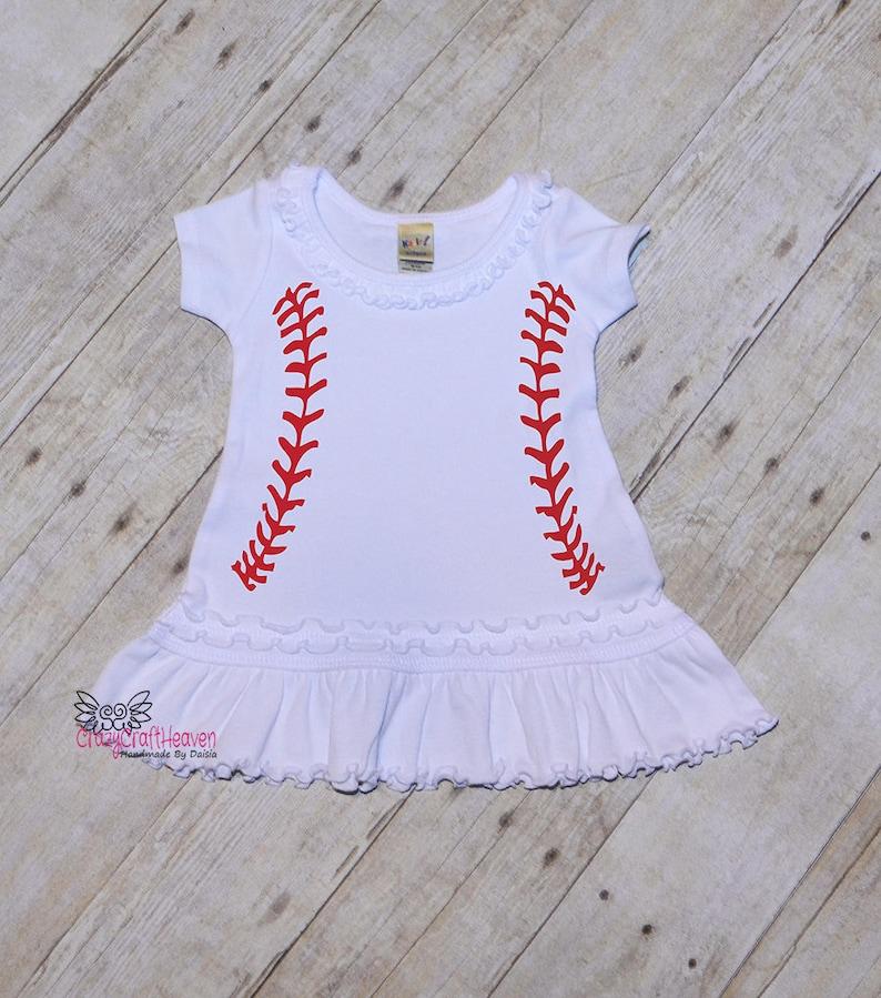 Baseball Dress Baby Baseball dress Toddler baseball dress  67aafb4bb6