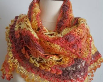 Multicolor Shawl, Mother Shawl, Mothers Day Gift, Mother's Day Gift, Crochet Shawl, Mom Shawl, Mom Gift, Mothers Gift, Mother's Gift