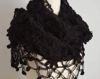 Black Mother Shawl, Mothers Day Gift, Mother's Day Gift, Black Shawl, Black Crochet Shawl, Black Mom Shawl, Mom Gift, Mothers Gift