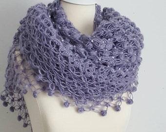 Wedding shawl, wedding crochet shawl, wedding cover up, crochet,  crochet wedding shawl,  crochet bolero, bridal shawl, purple crochet shawl
