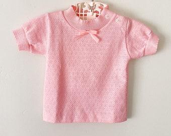 Vintage Pink T-shirt Deadstock Baby Top