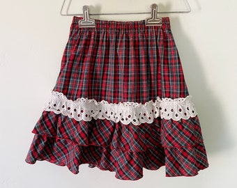 Plaid Skirt Shirley Temple Vintage Girls Clothes