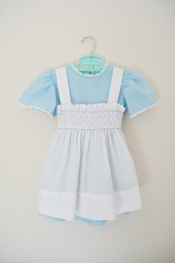 Vintage Dress 70s Pinafore