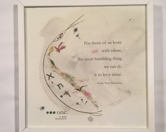 """15% OFF - HOLIDAY SPECIAL: New You Gift - Framed """"Let It Shine"""" Judaica Giclee Print, Signed and Numbered"""